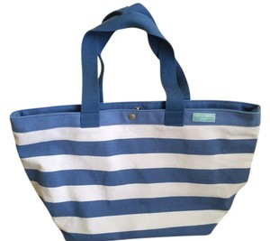 Dolce&Gabbana Light Canvas Beach Tote in Blue and White