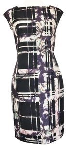 Escada short dress Black and Purple on Tradesy