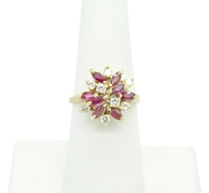 NYCFineJewelry Pink Topaz and Diamond Ring 14K Yellow Gold 0.9 CT TGW