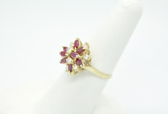NYCFineJewelry Pink Topaz and Diamond Ring 14K Yellow Gold 0.9 CT TGW Image 1