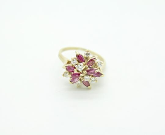 NYCFineJewelry Pink Topaz and Diamond Ring 14K Yellow Gold 0.9 CT TGW Image 2