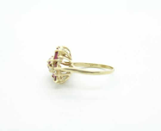 NYCFineJewelry Pink Topaz and Diamond Ring 14K Yellow Gold 0.9 CT TGW Image 3