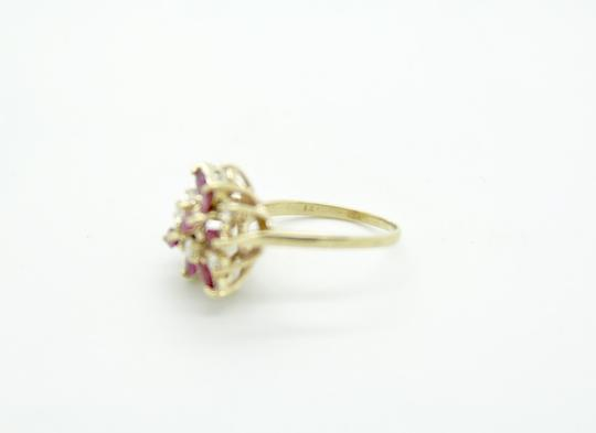 NYCFineJewelry Pink Topaz and Diamond Ring 14K Yellow Gold 0.9 CT TGW Image 4