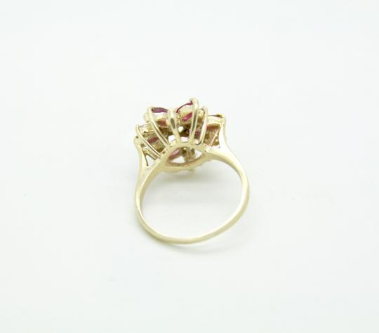 NYCFineJewelry Pink Topaz and Diamond Ring 14K Yellow Gold 0.9 CT TGW Image 5