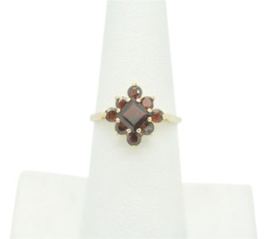 NYCFineJewelry Garnet Ring 14K Yellow Gold 1 CT TGW