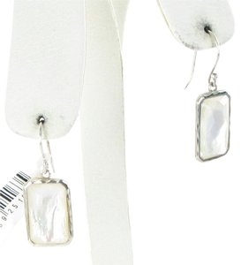 Ippolita Earrings Rock Candy Rectangular Mother of Pearl Clear Quartz Sterling