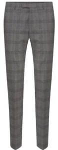 Hugo Boss Straight Pants Grey black check