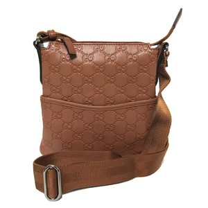 Gucci Leather Mini Brown Messenger Bag