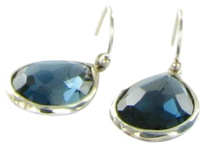 Ippolita Rock Candy Earrings London Blue Topaz Drops Sterling Silver