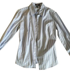 Express Button Down Shirt Blue and red