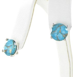 Ippolita Rock Candy 14mm Stud Earrings Bronze Turquoise Sterling Silver