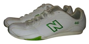 New Balance 442 Sneakers White and Lime Green Athletic