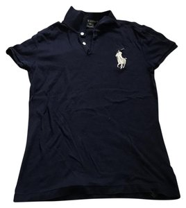 Ralph Lauren Black Label Big Pony Polo T Shirt Navy