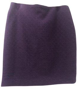 Cynthia Rowley Wool Wool Polyester Wool And Polyester Skirt Purple