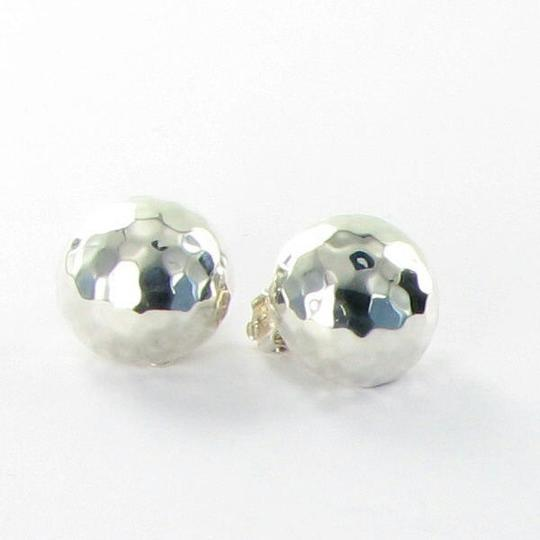 Ippolita Glamazon Button Clip On Earrings Sterling Silver Image 1