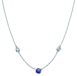 Tiffany & Co. Elsa Peretti Color by the Yard Necklace in platinum, diamond, sapphire