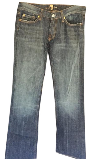 7 For All Mankind Boot Cut Jeans-Dark Rinse Image 0