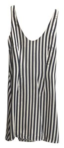 Nicole Miller short dress Navy and ivory striped on Tradesy