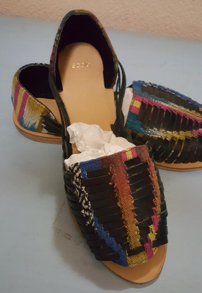 23621b658f8f7 Ecote Multicolor Artisan Urban Outfitters Leather Woven Huaraches ...