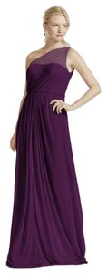 David's Bridal Plum F15928 Dress