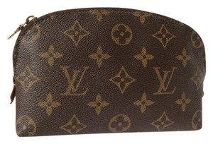 Louis Vuitton Cosmetic Pouch Damier Leather Brown Spain clutch