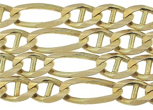 Solid,14k,Yellow,Gold,Mariner,Figaro,Chain,Necklace,19,4mm,14.7g