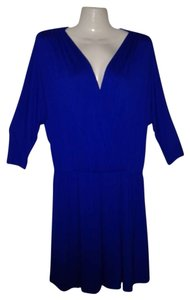 Bar III short dress Royal Blue V Neck 3/4 Sleeves Above Knee New on Tradesy