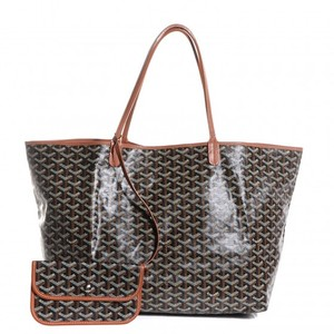 Goyard St. Louis Chevron Gm Tote in Black