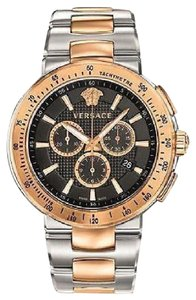 Versace Versace Vfg100014 Mens Mystique Chronograph Tone Watch Stainless