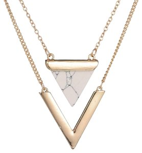 Other Rare Triangle Marble Stone Necklace