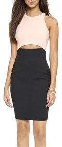 Elizabeth and James Sheath Racer-back Cut-out Color-blocking Bodycon Dress