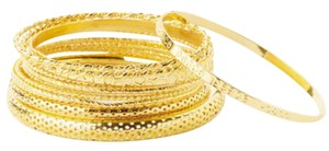 Other ** NWT ** 13 STAINLESS STEEL GOLD TONE BANGLE BRACELETS
