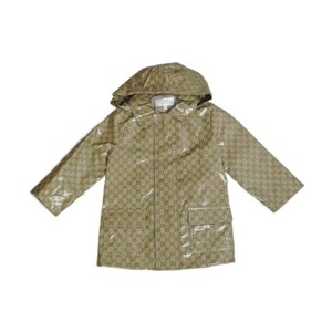 Gucci Brown New Kids Hooded Gg Rain Coat Jacket 12/18 Month 268812 Groomsman Gift