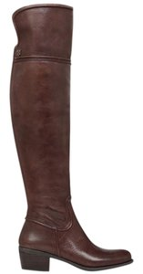 Vince Camuto Over The Knee Leather Leather Brown Boots