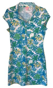 Lilly Pulitzer short dress Green, Blue and Yellow on Tradesy