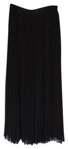 Jennifer Lopez Pleated Classic Maxi Skirt black