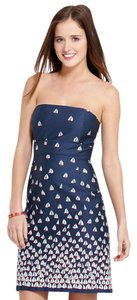 Vineyard Vines short dress Navy Strapless on Tradesy