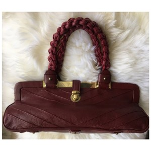 Marc Jacobs Chevron Jacobs Jacobs Red Jacobs Satchel in burgundy