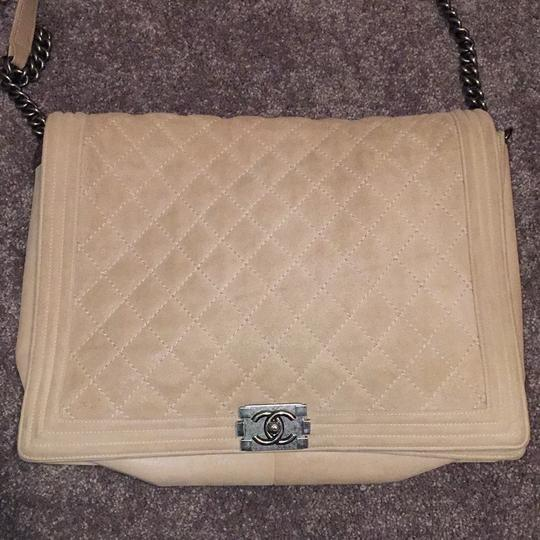 Chanel Suede Cc Boy Quilted Cross Body Bag Image 1