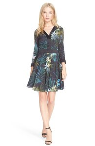 Ted Baker Floral Cocktail Fit And Flare Dress