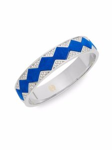 House of Harlow 1960 House of Harlow 1960 Exclusive Pave & Suede Sunburst Bangle Cobalt
