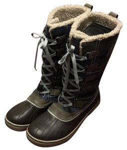 Sorel plaid, blue, brown Boots