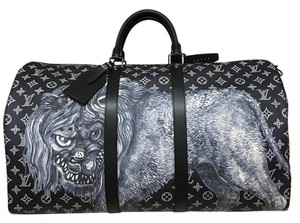 Louis Vuitton Safari Chapman Runway Limited Edition Lion black Travel Bag