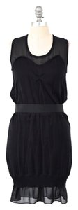 See by Chloé short dress Black Illusion Neckline Slouchy Elastic Waist Cotton Sweater on Tradesy