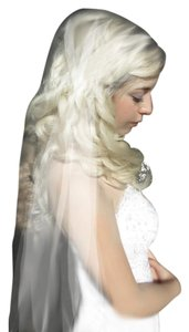 Juliet Cap Veil Cathedral Plain Cut Edge Veil Vintage Inspire