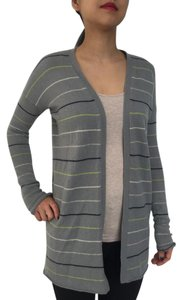 Theory Cashmere Slim Stripes Cardigan