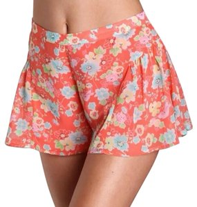 Free People Mini/Short Shorts Coral Floral Print