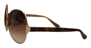 Tod's TOD'S Oversized Round Metal Frame Sunglasses in Bronze