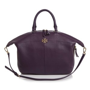 Tory Burch Satchel in nightshade purple