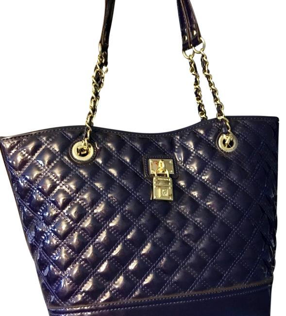 Item - 60352336-r40 Navy with Gold Hardware Man Made Material Tote